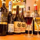 常時80種以上の厳選ワインをご用意