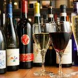 専任スタッフが心から美味しいと思うワインだけを約80種ご用意