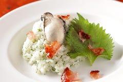牡蠣と大葉のリゾット