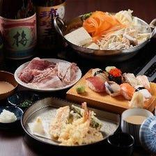 しゃぶしゃぶ・天ぷら・寿司食べ放題