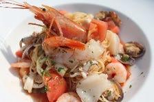 魚介とトマトの冷製パスタ