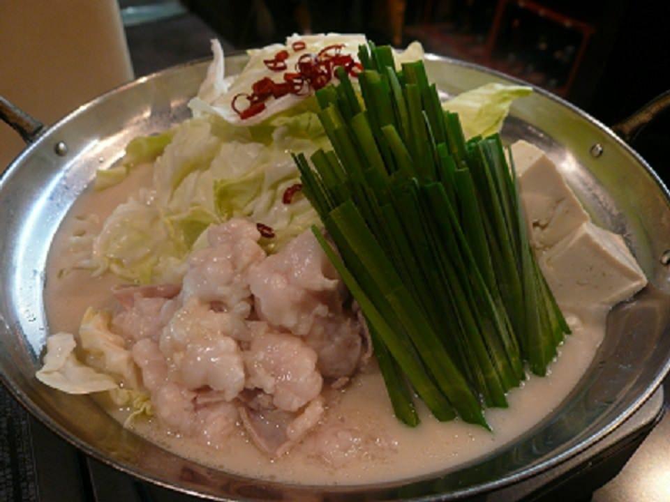 本場九州の味を楽しむ国産牛のモツ鍋