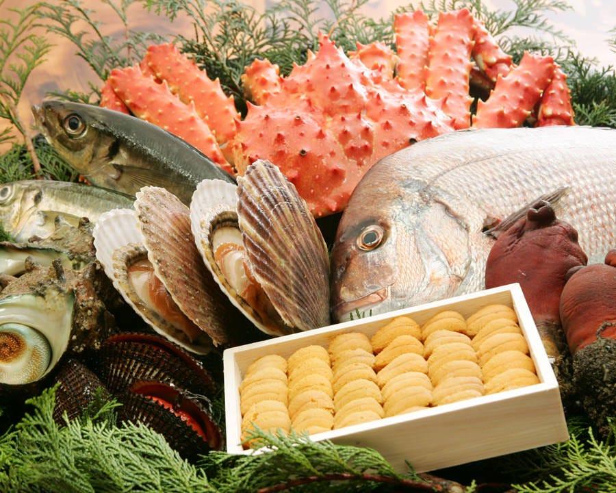 国産・天然にこだわった新鮮魚介