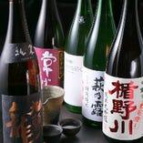 すっきり辛口から、米の旨みがしっかり感じられるものまで日本酒も豊富