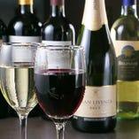 ボトルワイン(赤/白)は2,500円からご用意しております