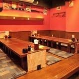 【~24名様まで/座敷】広々宴会空間は各種ご宴会や家族連れのお客様にもぴったり