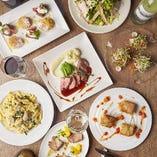 大皿シェアのコースはワイワイ女子会や合コンなどのシーンに最適