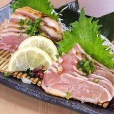 薩摩知覧鶏のたたき食べ比べ ~もも肉・むね肉~
