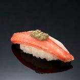 蟹身蟹味噌のせ
