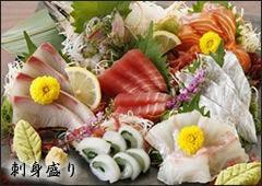 新鮮魚介の刺身盛り