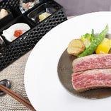 黒毛和牛(近江牛・亀岡牛)から選べる和風ランチ(110g)¨いばらき食べたい膳¨