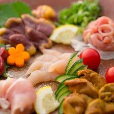 朝引き丹波地どりと京都産の新鮮食材