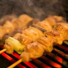 新鮮で、食感も美味しい地鶏やきとり