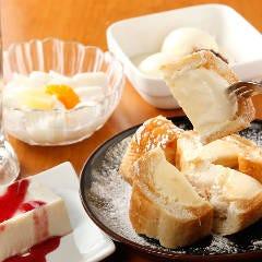 フランスパンでハニートースト