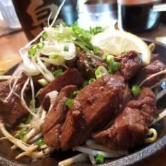 サイコロステーキ(鉄板焼)