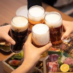 全コース『樽生エビス6種』も含む飲み放題付!味&ボリュームに満足♪普段の居酒屋宴会に差をつけます!