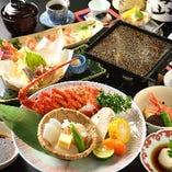 【石焼きコース】4120円~、車海老、ロブスター、牛肉をご用意!