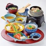釜飯御膳(鯛、鶏、蛸、穴子の釜飯) 不動の人気商品☆