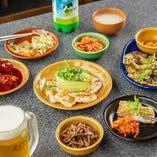 こだわりの韓国料理を豊富にラインナップ。
