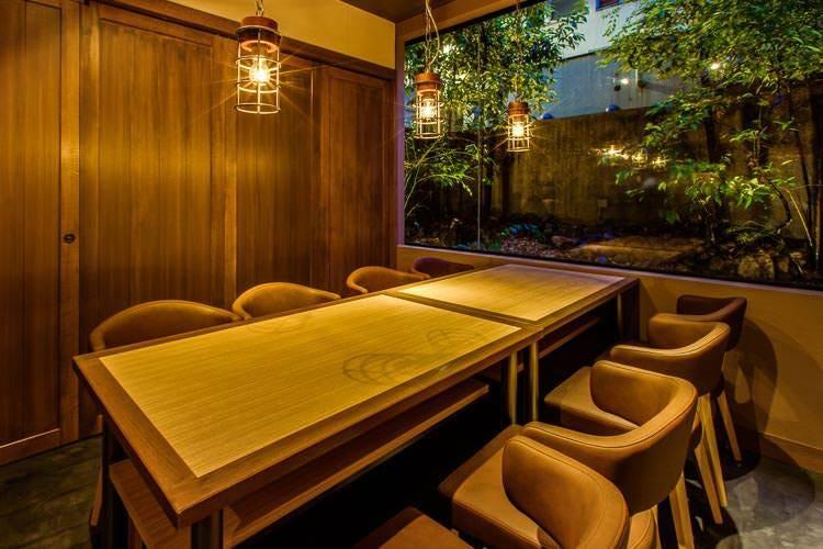 庭園を望む完全個室ご宴会プラン【飲み放題付き】6名様~18名様