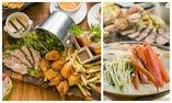 【Go To Eat!!】ズワイガニと豪快!肉盛プラッター 炙之介秋の宴席プラン