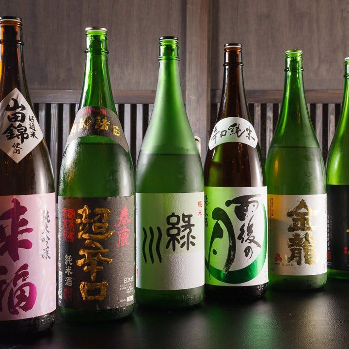 全国各地の日本酒・焼酎40種以上!