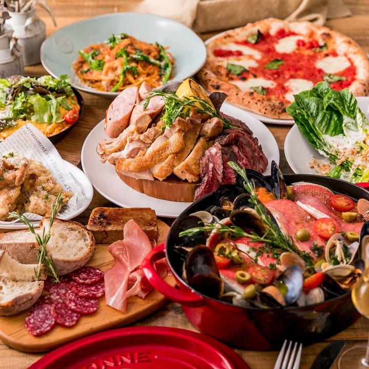 イタリアンらしいパーティーコース