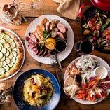 """当店はワイン=VINと太陽=SANの恵みを盛り込んだ""""晩餐""""を味わうイタリアンキッチン"""