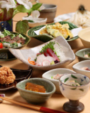 旬の秋田食材を使用した和食のコース