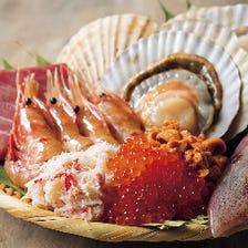 刺身桶盛 北海道 湧別漁港から直送