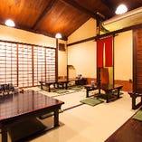 京町屋の落ち着いた空間でゆっくりとお召し上がりください。