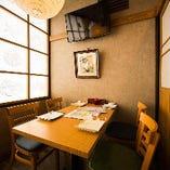 4~20名様対応のテーブル個室はご宴会に人気!