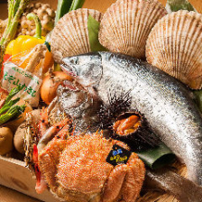北海道の魚介も盛り沢山!