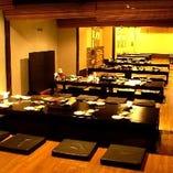 純和風の落ち着きある個室でご宴会、最大100名様まで大歓迎!