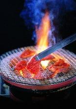 炭火で焼く肉の美味さ!!