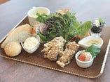 若鶏の唐揚げランチ(パン or ライス)