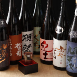 厳選した日本酒約20種類が飲み放題