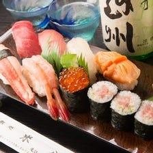 新鮮魚介で握るお寿司