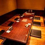 少人数宴会に最適な広々利用できる個室は最大10名様でご案内