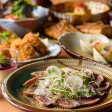 【宴会特別コース】親鶏とゴボウのコロッケ、牛バラ肉のすき焼き風など9品!2,500円税抜