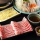 山形県産山形豚は、 オリジナルの和風だしで。
