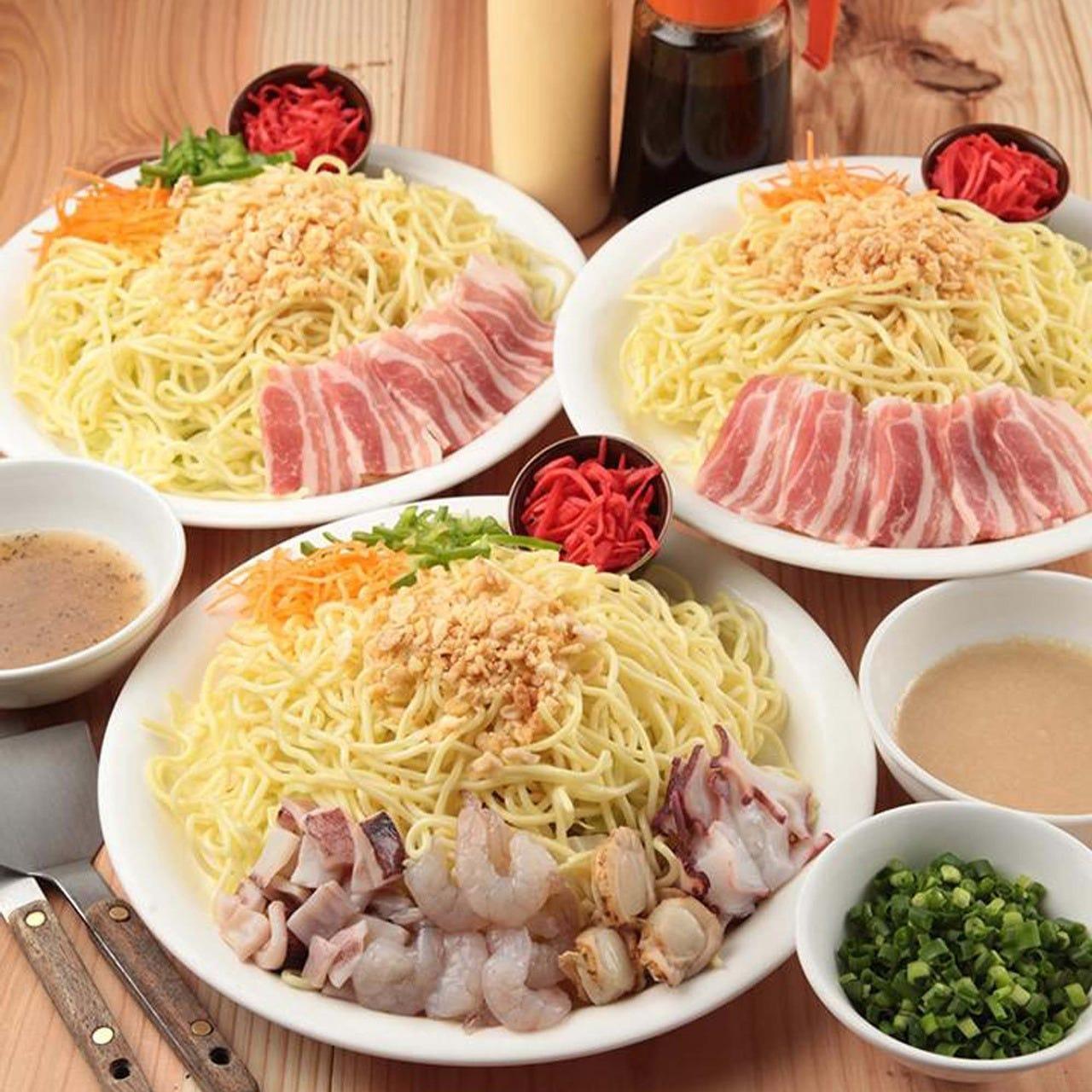 もんじゃ横丁限定の絶品もっちり太麺