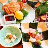 料理長と相談できる自分だけの特別会席料理10000円(税込)