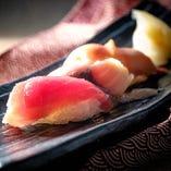 握り寿司 三貫