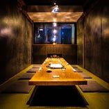 江戸切子の光差し込む…くつろぎの掘りごたつ完全個室