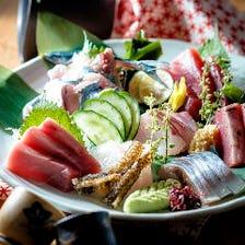 毎日市場より新鮮な魚介類をご用意