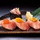 牛たんの色々な部位が楽しめる「トロたん寿司セット」