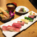 春の牛寿司定食