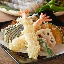 大海老の天ぷら盛合せ