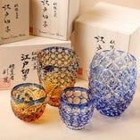 江戸切子で楽しむ選りすぐりの日本酒。